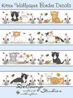 Puppy Dog Wallpaper Border for baby boy or girl nursery and ...
