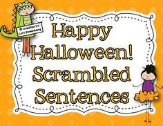 Happy Halloween Scrambled Sentences