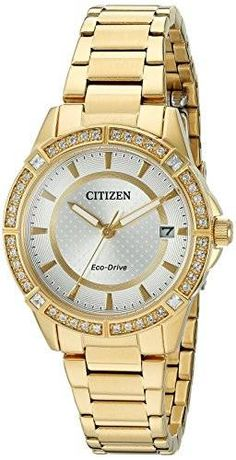 cool Drive From Citizen Eco-Drive Women's Quartz Stainless Steel Casual Watch, Color: Gold-Toned (Model: FE6062-56A)