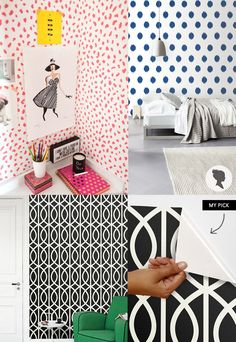 MadeByGirl-/ removable wallpaper for renters or those who can't settle on a