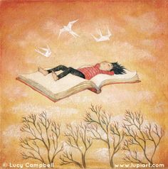 Floating Away © Lucy CAMPBELL (Artist). Orders accepted via her website. Yeah, artists need to eat too ...  [Do not remove this caption. The law requires you to credit the artist.] COPYRIGHT LAW: http://pinterest.com/pin/86975836525792650/  HOW TO FIND the ORIGINAL WEB SITE of an image: http://pinterest.com/pin/86975836525507659/  COPYRIGHT INFRINGEMENT:  http://pinterest.com/pin/86975836525987875/ Respect people, Respect copyright.