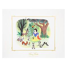 Disney Snow White Deluxe Print | Disney StoreSnow White Deluxe Print - Celebrate the art of storytelling with our deluxe prints derived from classic Story Books of Walt Disney Studio's golden age. This piece reproduces an illustration from Big Golden Book <i>Snow White and the Seven Dwarfs</i> (1952).