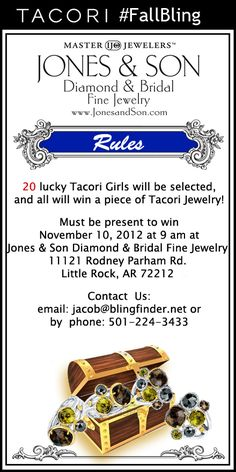#Tacori #FallBling Pin It to WIN it! Official rules (Oct-Nov 2012) Tacori Fall Bling 2012