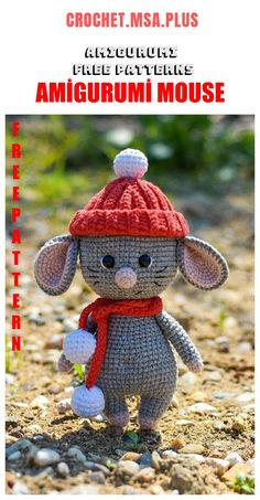 In this article we will share the amigurumi cute mouse crochet free english pattern. Amigurumi related to everything you can not find and share with you. Crochet Cat Pattern, Crochet Mouse, Crochet Animal Patterns, Stuffed Animal Patterns, Crochet Patterns Amigurumi, Crochet Animals, Stuffed Animals, Free Crochet, Free Pattern