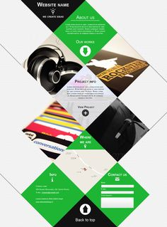 Web agency single page portfolio  by ~kekkorider