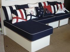 Nautical themed cushions thecoverco.co.nz