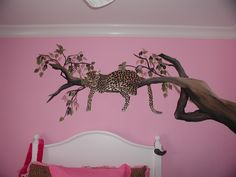 cheetah themed rooms | this client s daughter wanted a leopard themed room for a little ...
