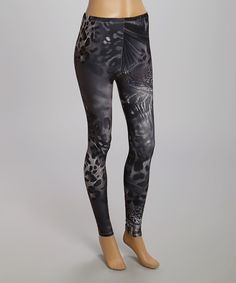Look at this Black Animal Leggings on #zulily today!
