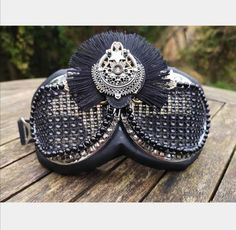 Women's Dust Goggles, Black and Silver Embellished Goggles, Festival Clothes Bridal Accessories, Sunglasses Accessories, Festival Sunglasses, Rave Mask, Burning Man Outfits, Funky Outfits, Bachelorette Gifts, Festival Outfits, Black Mesh