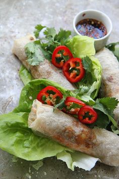 Crispy Baked Spring Rolls, Gluten Free by Heather Christo, via Flickr