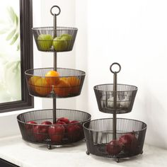 Corral your clementines and elevate your lyc… Shop Barrett Graphite Fruit Basket. Corral your clementines and elevate your lychees with these tiered baskets handcrafted of iron and finished in sophisticated graphite. Crate And Barrel, Plastic Crates, Plastic Storage, Infused Water Bottle, Shops, Food Storage Containers, Kitchen Organization, Organizing, Organized Kitchen