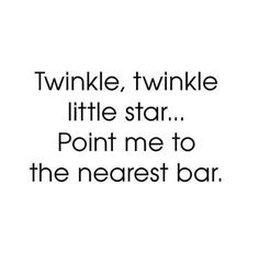 A nursery rhyme for adults. I know just the bar!