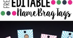 Such a cute way to start the year in your classroom with brag tags. This freebie includes editable brag tags in 12 different styles to be used as a nametag for the first tag on your students' necklaces