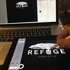 @astropadapp for iPad... my new best friend. #logo #logonew #logoroom #logotype #logodaily #typography #type #design #DesignDetails #church #refuge #graphicartist #graphicdesign #illustrator #illustration #art #artist #sketch #ipad #ipadpro #applepencil #sketch