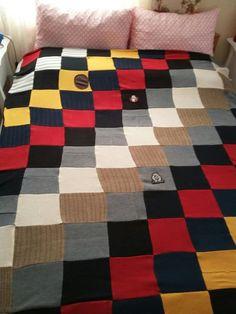Eski kazaklardan yaptığım battaniye