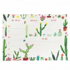cacti, cactus, stationery, deskpad, notepad, organisation, planner