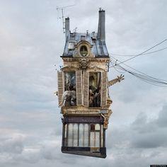 12 case volanti in cui sarebbe bello vivere. Il progetto fotografico di Laurent Chehere