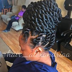 Simple Updos For Long Hair Twist Braid Hairstyles, My Hairstyle, Twist Braids, Bun Braid, Black Girl Braids, Girls Braids, Summer Hairstyles, Pretty Hairstyles, Prom Hairstyles