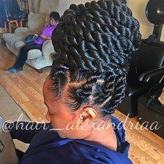 Simple Updos For Long Hair Twist Braid Hairstyles, My Hairstyle, Twist Braids, Protective Hairstyles, Protective Styles, Bun Braid, Afro Braids, Cool Braids, Cornrows