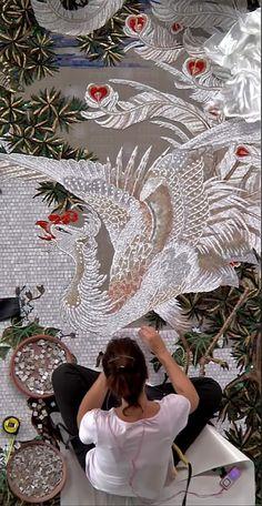 -Mosaic artist at SICIS  ------------sicis-mosaic-artist
