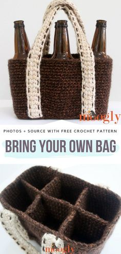 Father's Day Gift Ideas Free Crochet Patterns – Crochet market bag free pattern - Agli Bag Pattern Free, Crochet Basket Pattern, Crochet Patterns, Crochet Ideas, Crochet Baskets, Easy Crochet Projects, Crochet Edgings, Shawl Patterns, Crochet Motif