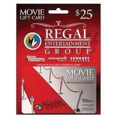 Regal Cinemas gift cards would make a nice, easy date night for the hubby and me