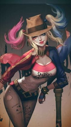 ❤ SIMPLY ME ❤ Harley Quinn Halloween, Harley Quinn Comic, Harley Quinn Cosplay, Dc Comics Art, Comics Girls, Jester Outfit, Vegito Y Gogeta, Harley Quinn Drawing, Harely Quinn