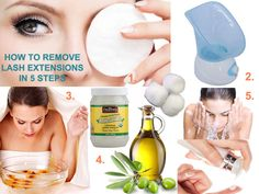 Learn 5 EASY steps to safely remove eyelash extensions including authentic mink lash extensions without damaging your own natural lashes in the comfort of your own home. - May 18 2019 at Mink Eyelash Extensions, Eye Makeup Remover, Eye Makeup Tips, Basic Makeup, Makeup Trends, Deep Set Eyes Makeup, Eyelash Extension Removal, How To Remove Adhesive, Eyes