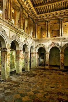 abandoned dance hall