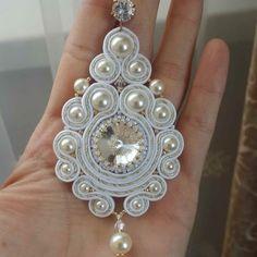 Soutache Pendant, Soutache Necklace, Tassel Earrings, Ring Earrings, Fabric Jewelry, Boho Jewelry, Jewelery, Handmade Jewelry, Embroidery Jewelry