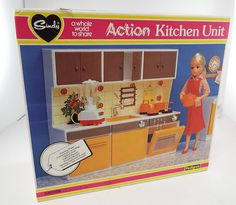 Wonderful Vintage Pedigree SINDY ACTION KITCHEN UNIT Boxed W Accessories - 9 L24 in Dolls & Bears, Dolls, Clothing & Accessories, Fashion, Character, Play Dolls   eBay