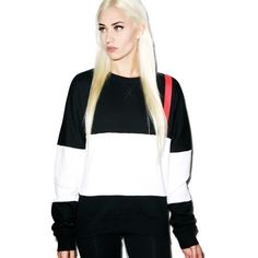 Black Scale Code Red Crewneck ($100) ❤ liked on Polyvore