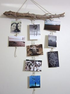 Perfect for a beach themed room :-) - Tap the link to see the newly released collections for amazing beach bikinis Diy Photo, Wood Photo, Beach Office, Beach Room, Driftwood Crafts, Decoration Inspiration, Bedroom Art, Room Themes, Photo Displays