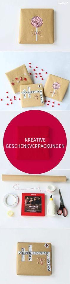Kreative Geschenkverpackungen DIY - Teil 1 - Viele schöne und kreative Geschenkverpackungen findest Du auch in unserem mydays Magazin. DIY | geschenke