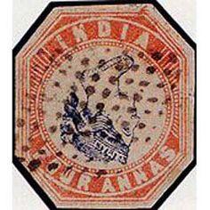 Inverted Head Four Annas error stamp