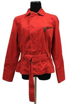 CAbi 401 First Mate Red Belted Jacket Size L