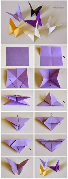 Delicate paper butterflies