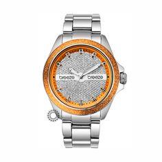 2013610021.5 - Γυναικείο fashion ρολόι της BREEZE από τη σειρά City Lights με ατσάλινο μπρασελέ και καντράν με πέτρες.Αποστολή εντός 2-3 ημερών.