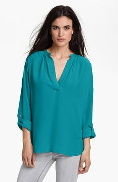Two by Vince Camuto-Split Neck Tunic Blouse SALE $35