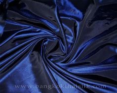 A less expensive option: silk and poly blend. Midnite Blue Taffeta 60