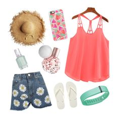 """""""Barn Hangin"""" by ashleyk0214 on Polyvore featuring WearAll, Casetify, Fitbit, Essie and Havaianas"""