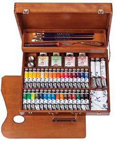 Van Gogh, Paint Brush Sizes, Oil Paint Set, Pinterest Diy Crafts, White Spirit, Vans Shop, Best Oils, Painted Boxes, Jeff Koons