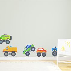 For the little monster truck fan in your home. --Monster Trucks Printed Wall Decal.