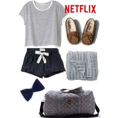 Sleepover Style♡ by amazinggrace31 on Polyvore featuring polyvore, fashion, style, Victoria's Secret, Abercrombie & Fitch, American Eagle Outfitters and Bloomingville