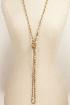 70's__Monet__Extra Long Chain Necklace