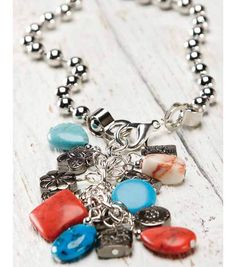 Create a fun & easy cluster beaded ball chain necklace! - love the clasp