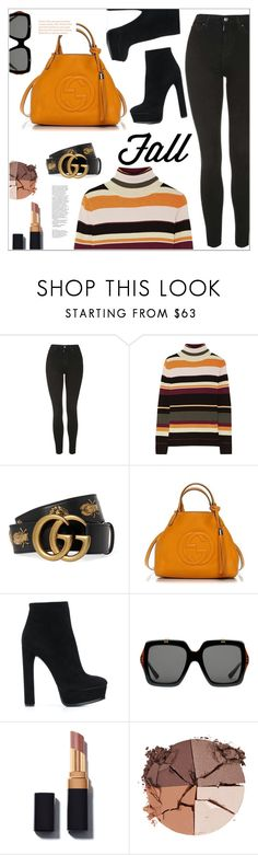 """Fall Outfit"" by christinacastro830 ❤ liked on Polyvore featuring Topshop, Paul & Joe, Gucci, Casadei and lilah b."