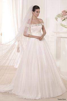 tarik ediz 2014 bridal collection off the shoulder a line wedding dress lale