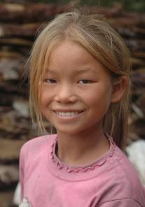Chinese person with blonde hair