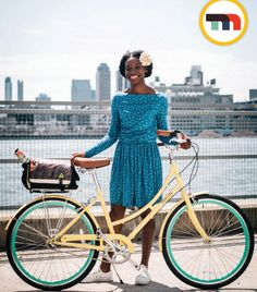@momentummag creates another great #bikestyle! Our #amelia dress is so comfy to ride in. #summertimefun.